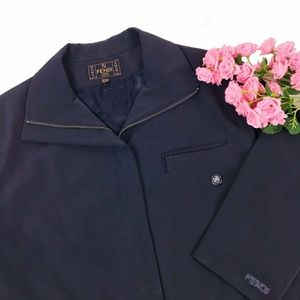 Vintage Fendi Crystal Detailed Jacket